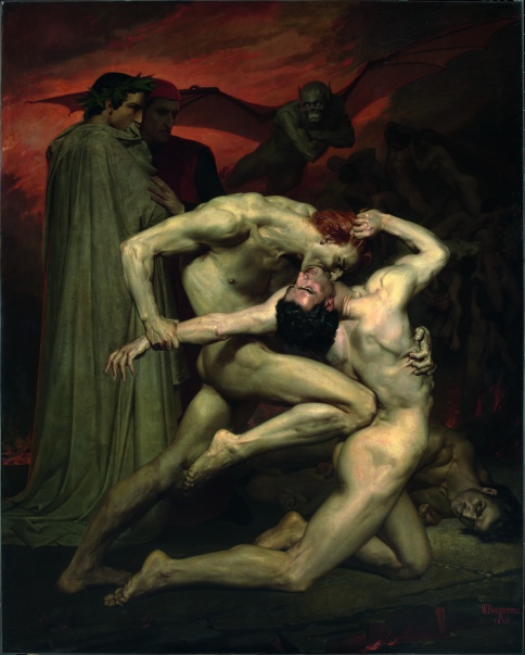Bouguereau dante et Virgile